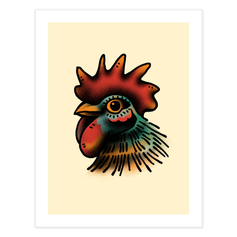 Pollo Macho Home Fine Art Print by barmalisiRTB