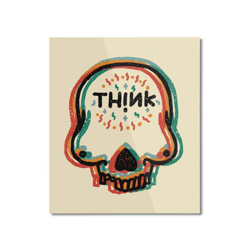 Think Home Mounted Aluminum Print by barmalisiRTB
