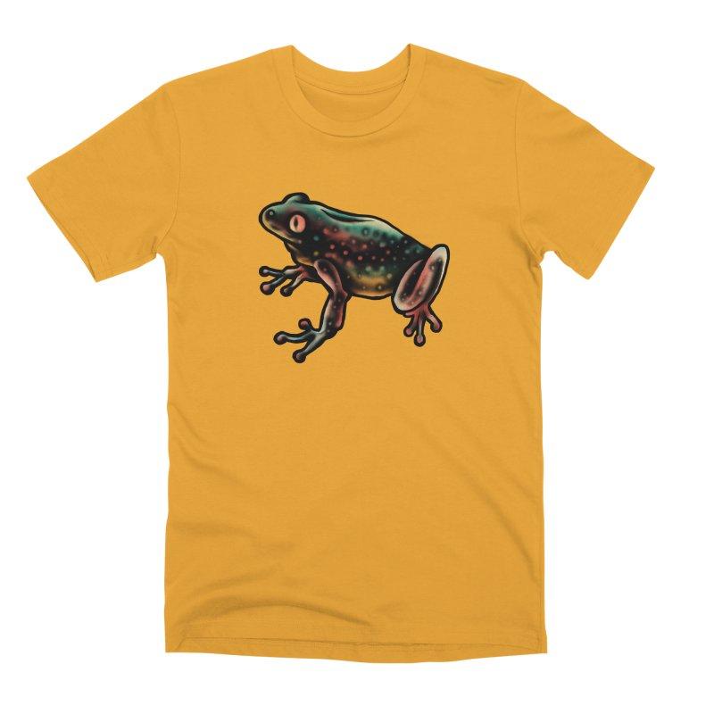 Leopard frog Men's Premium T-Shirt by barmalisiRTB