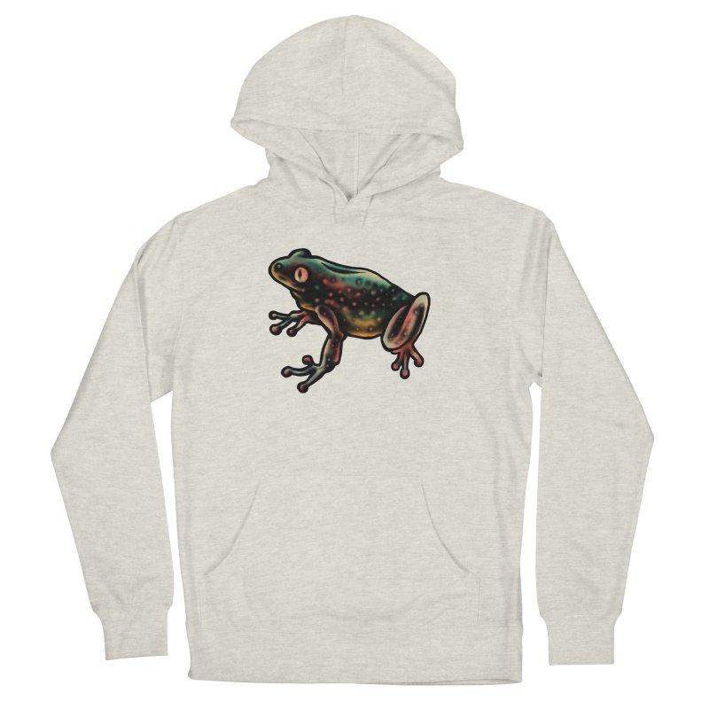Leopard frog Women's French Terry Pullover Hoody by barmalisiRTB