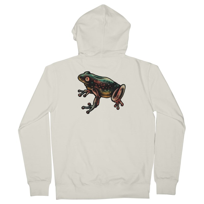 Leopard frog Women's French Terry Zip-Up Hoody by barmalisiRTB