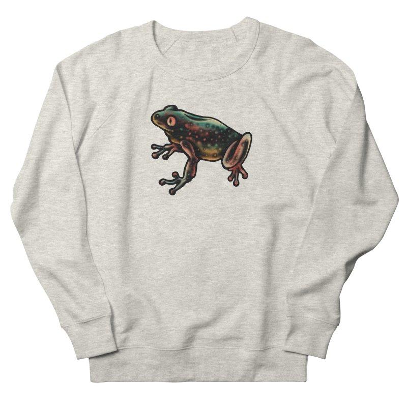 Leopard frog Women's French Terry Sweatshirt by barmalisiRTB
