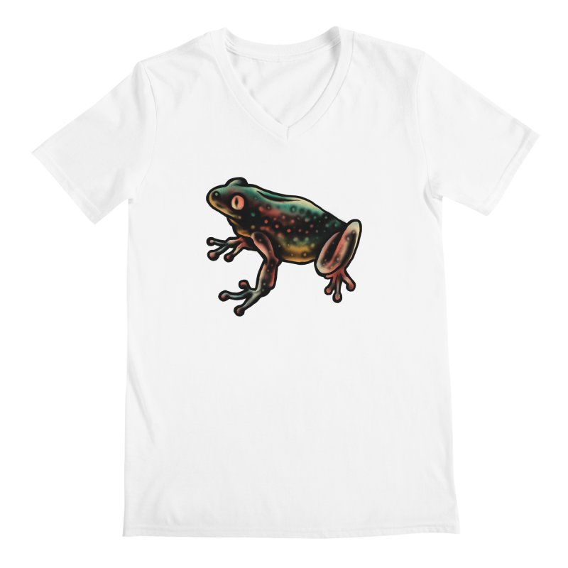 Leopard frog Men's Regular V-Neck by barmalisiRTB