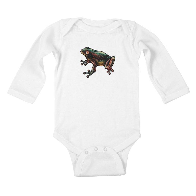 Leopard frog Kids Baby Longsleeve Bodysuit by barmalisiRTB