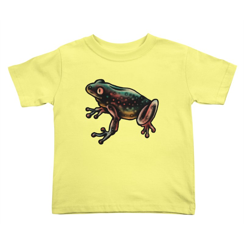 Leopard frog Kids Toddler T-Shirt by barmalisiRTB