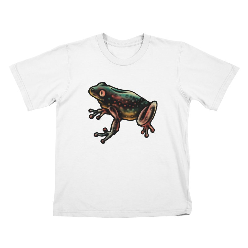 Leopard frog Kids T-Shirt by barmalisiRTB
