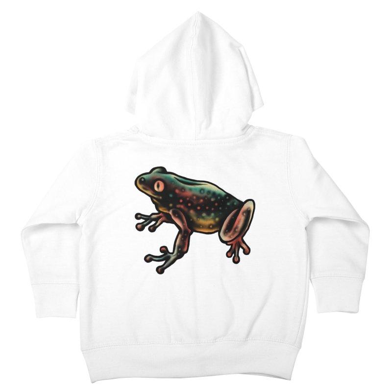 Leopard frog Kids Toddler Zip-Up Hoody by barmalisiRTB