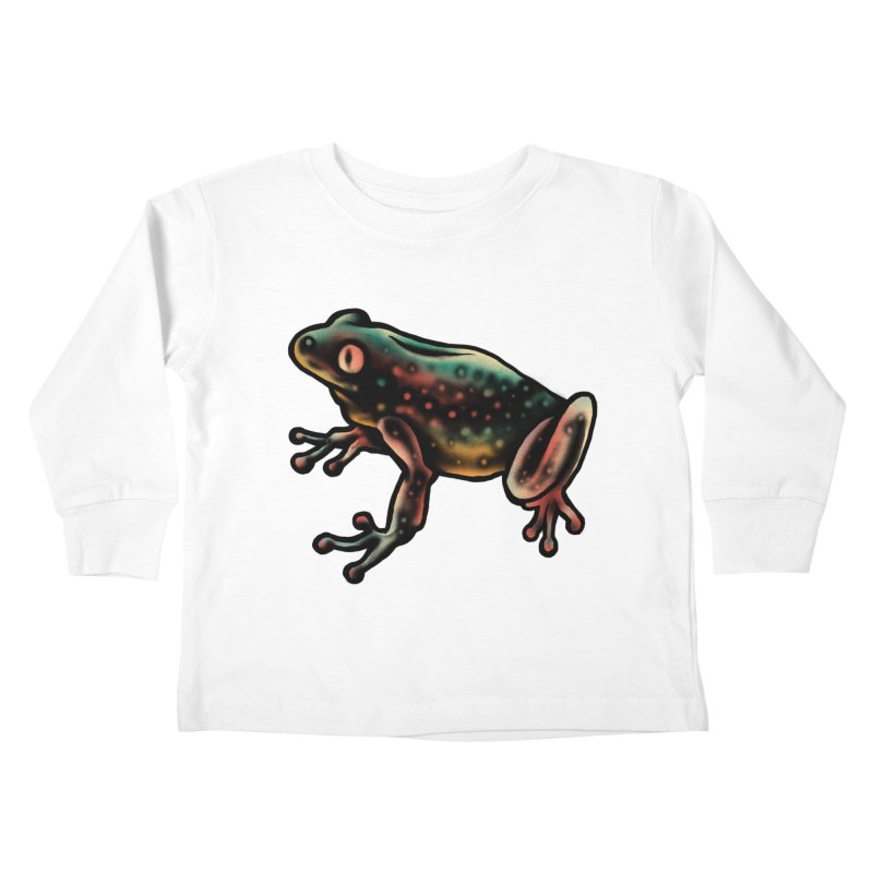 Leopard frog Kids Toddler Longsleeve T-Shirt by barmalisiRTB