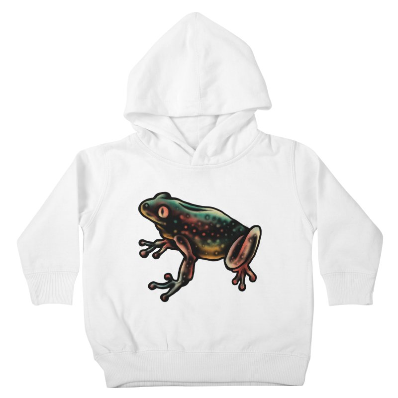 Leopard frog Kids Toddler Pullover Hoody by barmalisiRTB