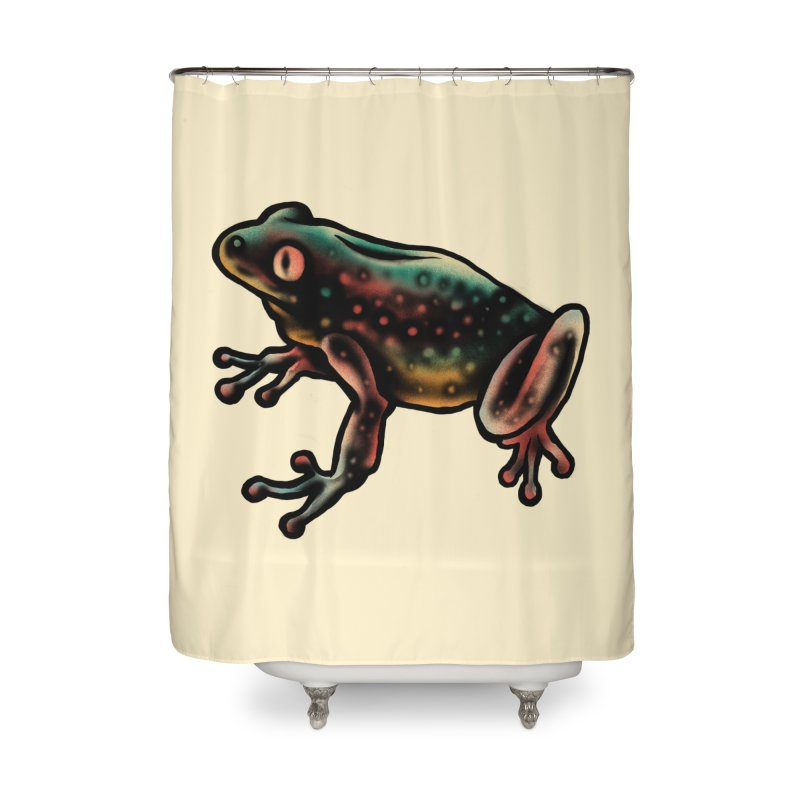 Leopard frog Home Shower Curtain by barmalisiRTB
