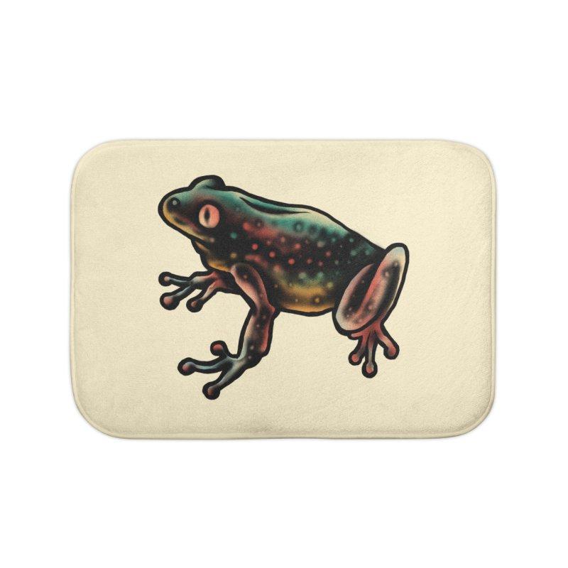 Leopard frog Home Bath Mat by barmalisiRTB