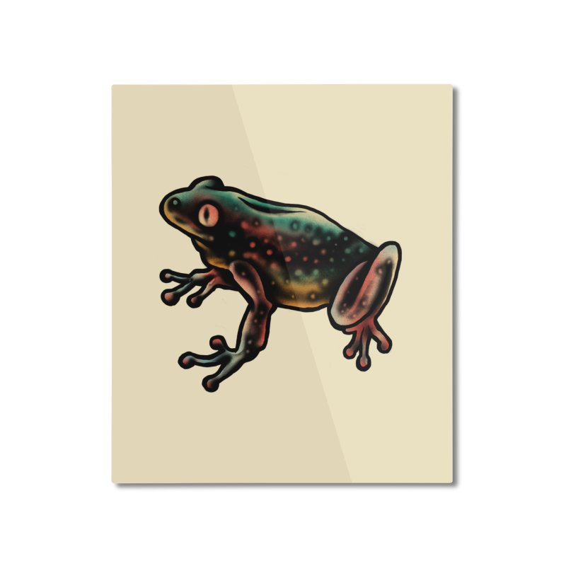 Leopard frog Home Mounted Aluminum Print by barmalisiRTB
