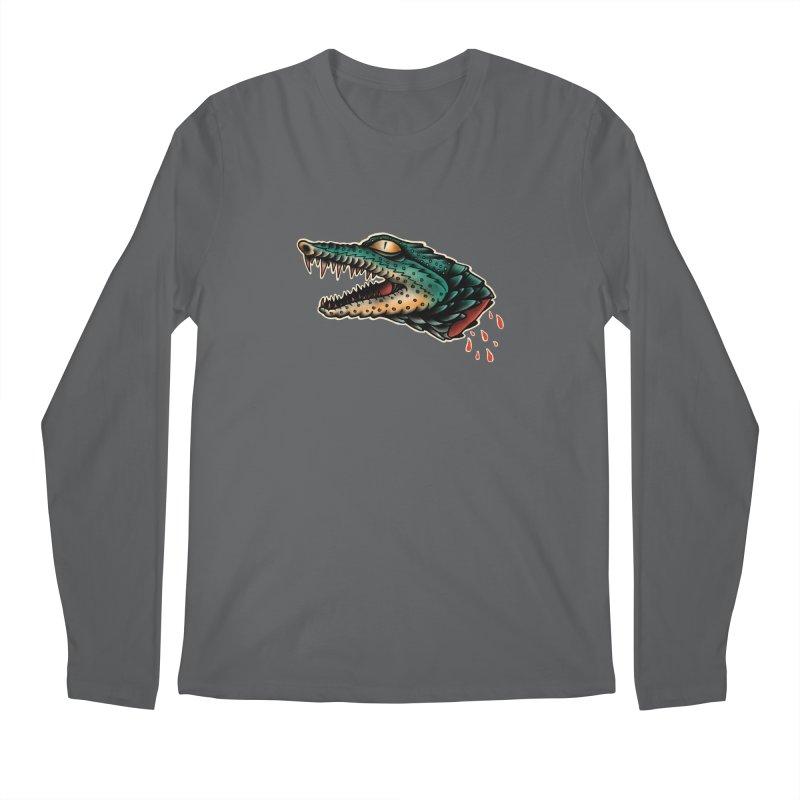 Crocodile Legend Men's Longsleeve T-Shirt by barmalisiRTB