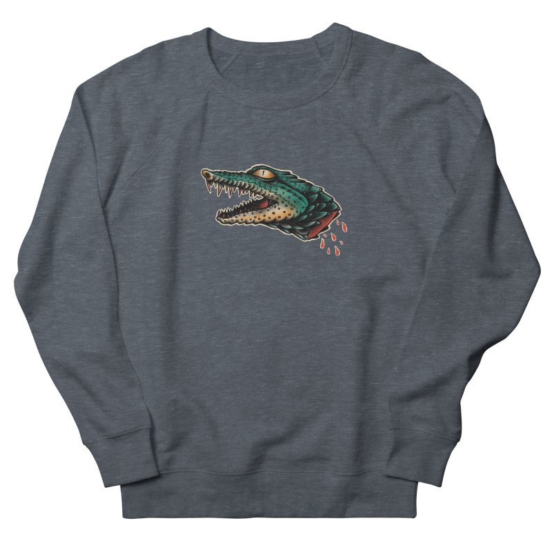 Crocodile Legend Men's French Terry Sweatshirt by barmalisiRTB