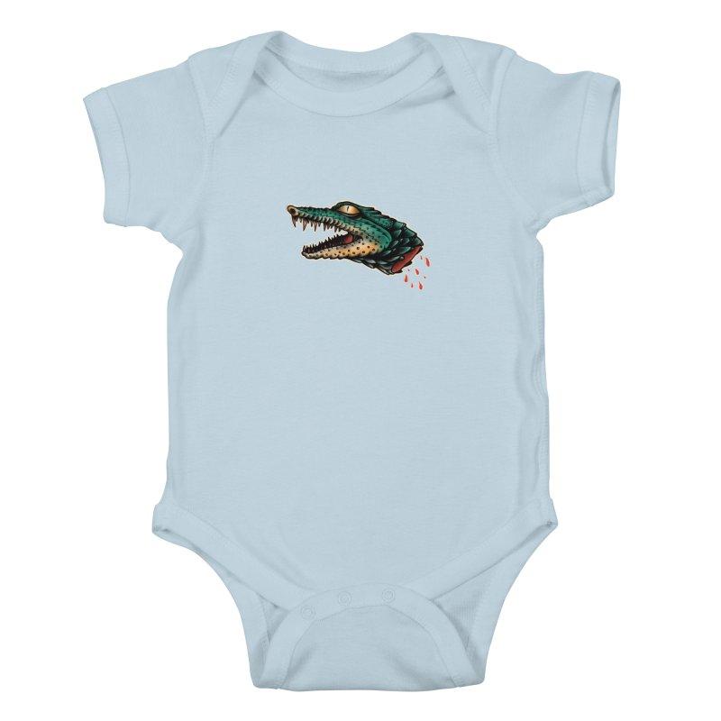 Crocodile Legend Kids Baby Bodysuit by barmalisiRTB
