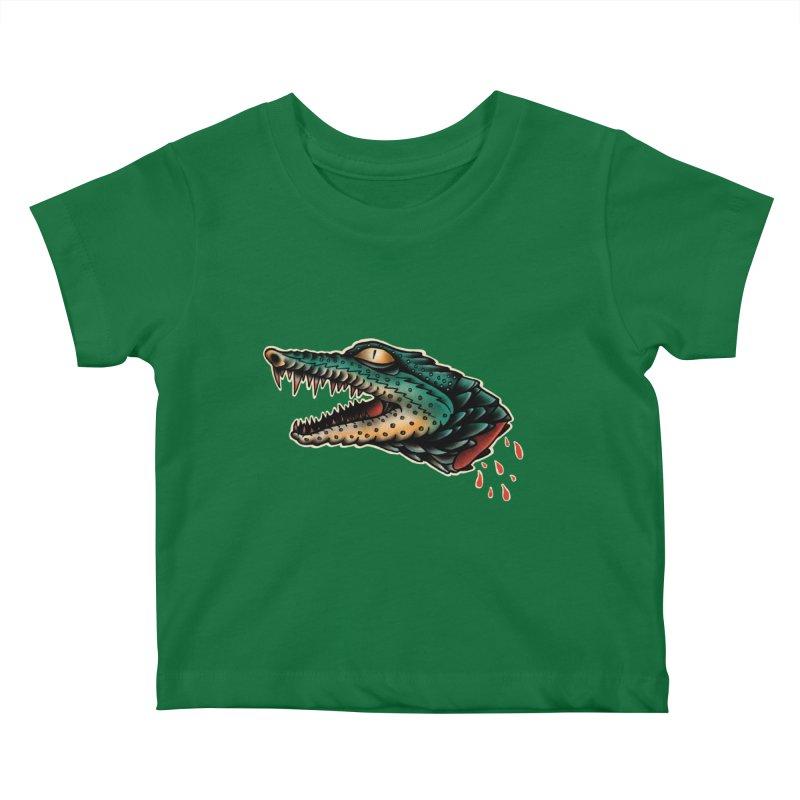 Crocodile Legend Kids Baby T-Shirt by barmalisiRTB