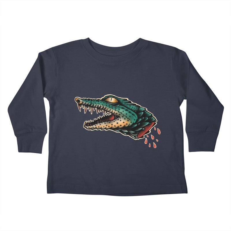 Crocodile Legend Kids Toddler Longsleeve T-Shirt by barmalisiRTB