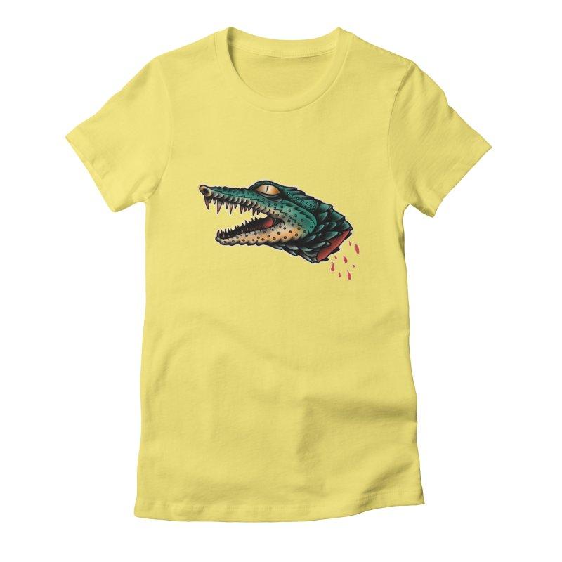 Crocodile Legend Women's Fitted T-Shirt by barmalisiRTB