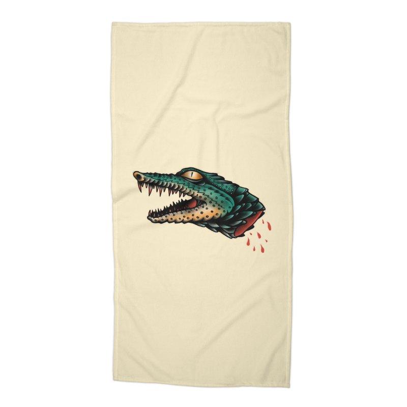 Crocodile Legend Accessories Beach Towel by barmalisiRTB