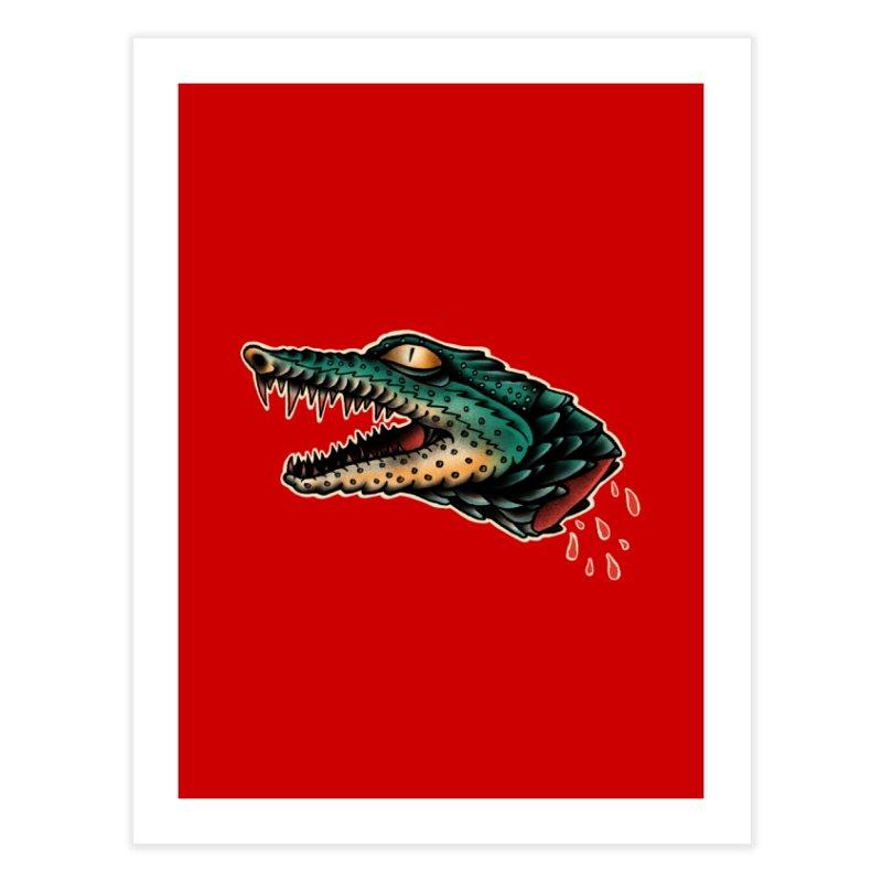 Crocodile Legend Home Fine Art Print by barmalisiRTB