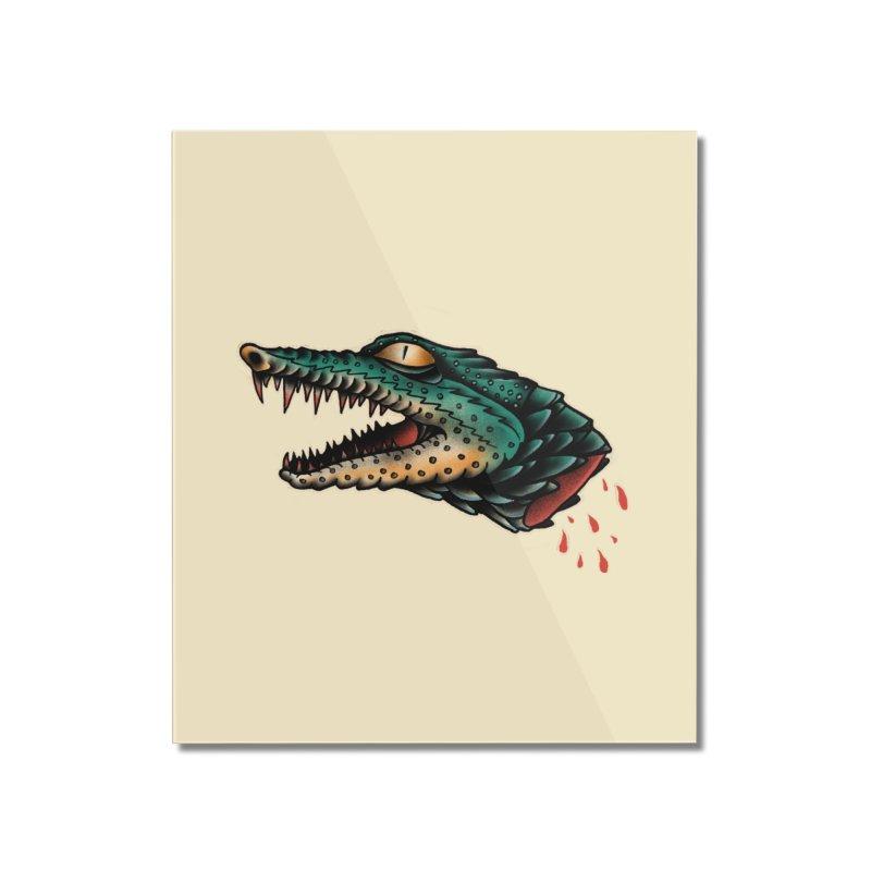 Crocodile Legend Home Mounted Acrylic Print by barmalisiRTB