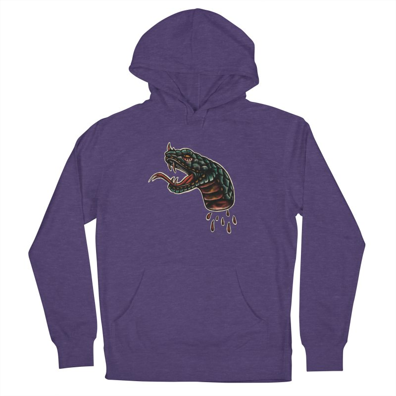 Viper head Men's French Terry Pullover Hoody by barmalisiRTB