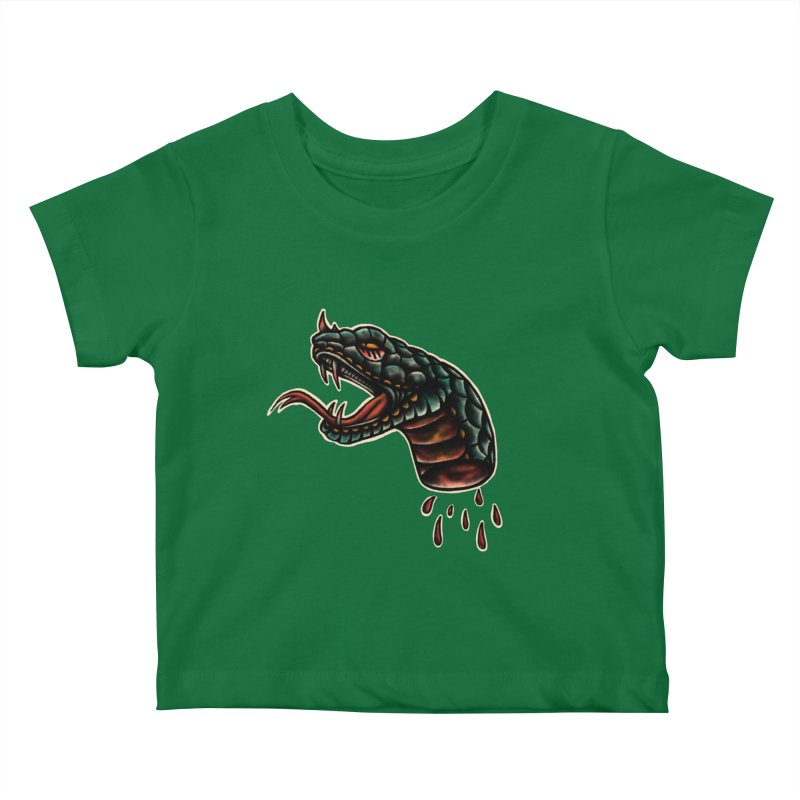 Viper head Kids Baby T-Shirt by barmalisiRTB