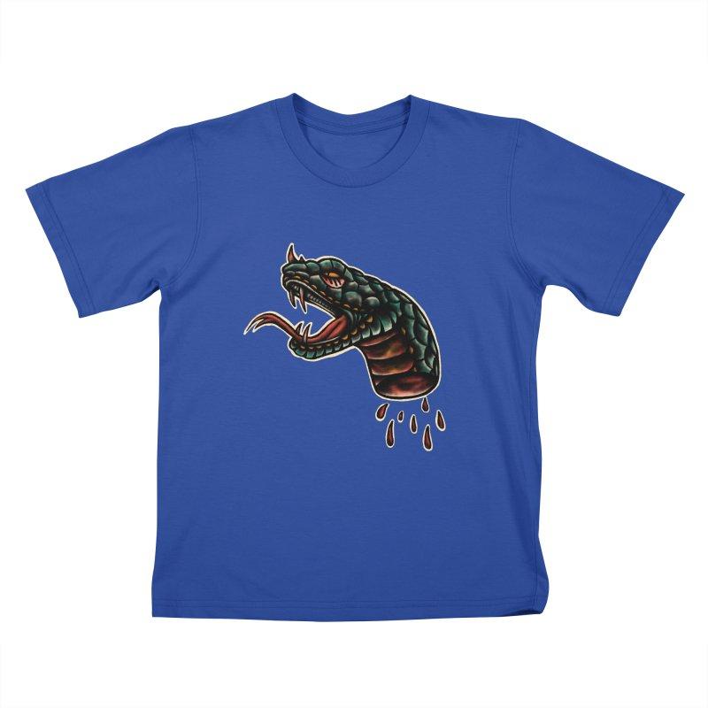 Viper head Kids T-Shirt by barmalisiRTB