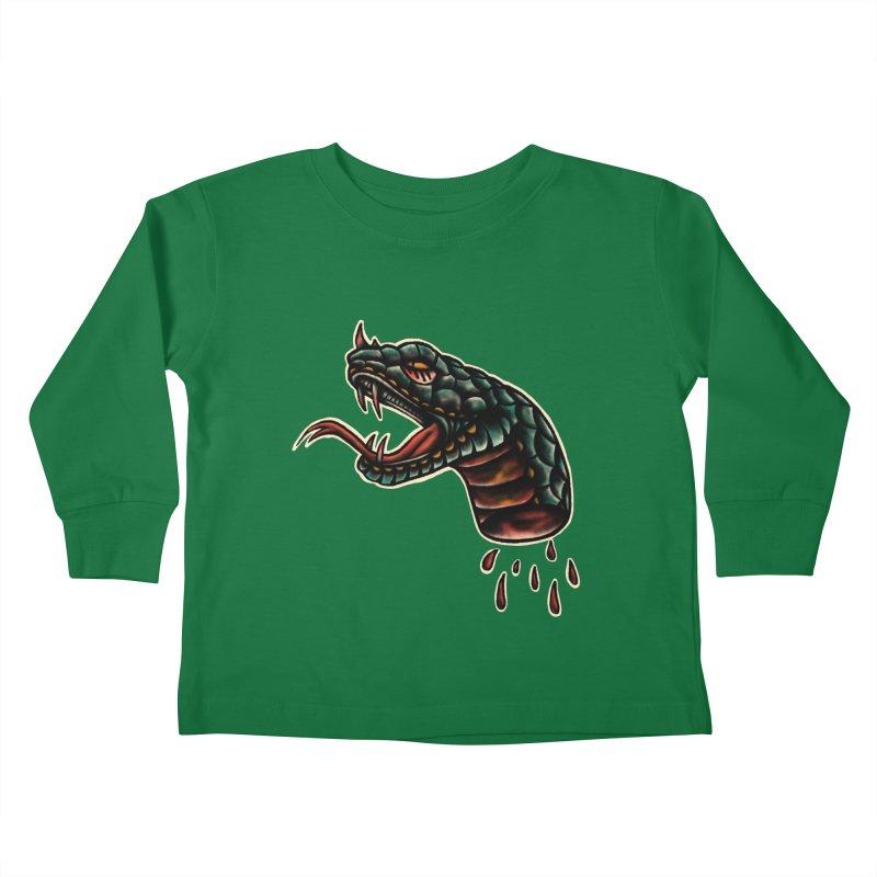 Viper head Kids Toddler Longsleeve T-Shirt by barmalisiRTB