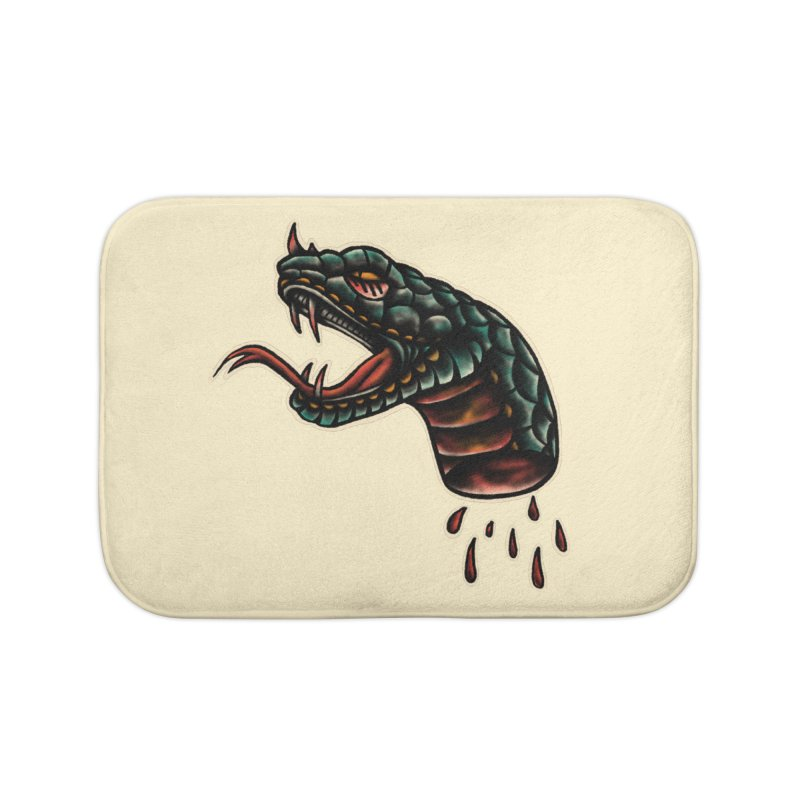 Viper head Home Bath Mat by barmalisiRTB