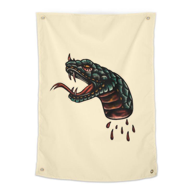 Viper head Home Tapestry by barmalisiRTB