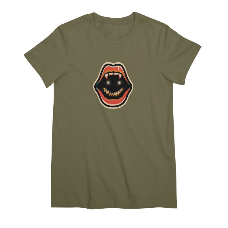 mouth mystery Women's Premium T-Shirt by barmalisiRTB