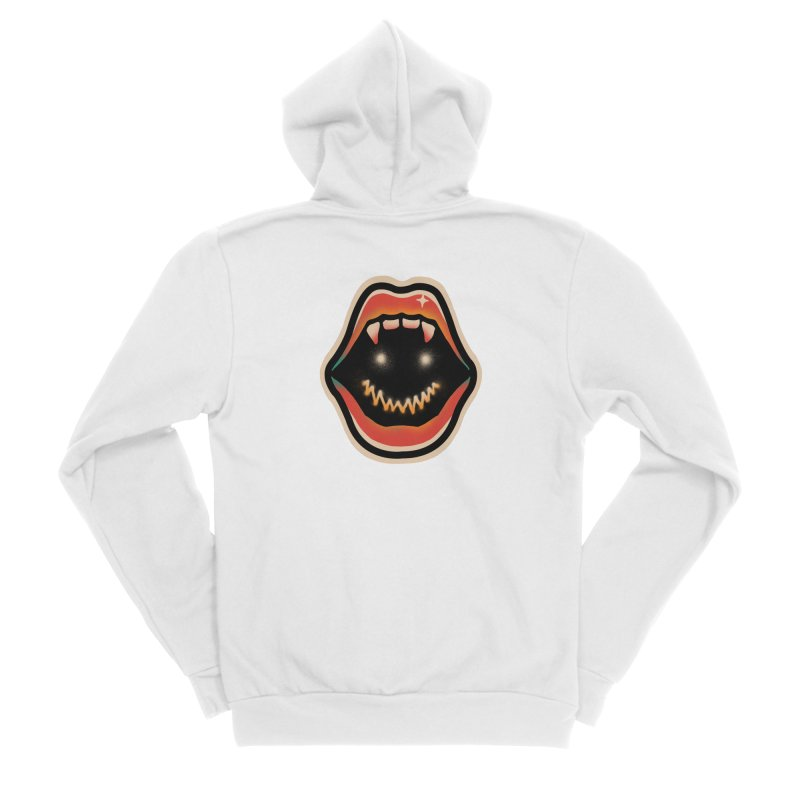 mouth mystery Women's Sponge Fleece Zip-Up Hoody by barmalisiRTB