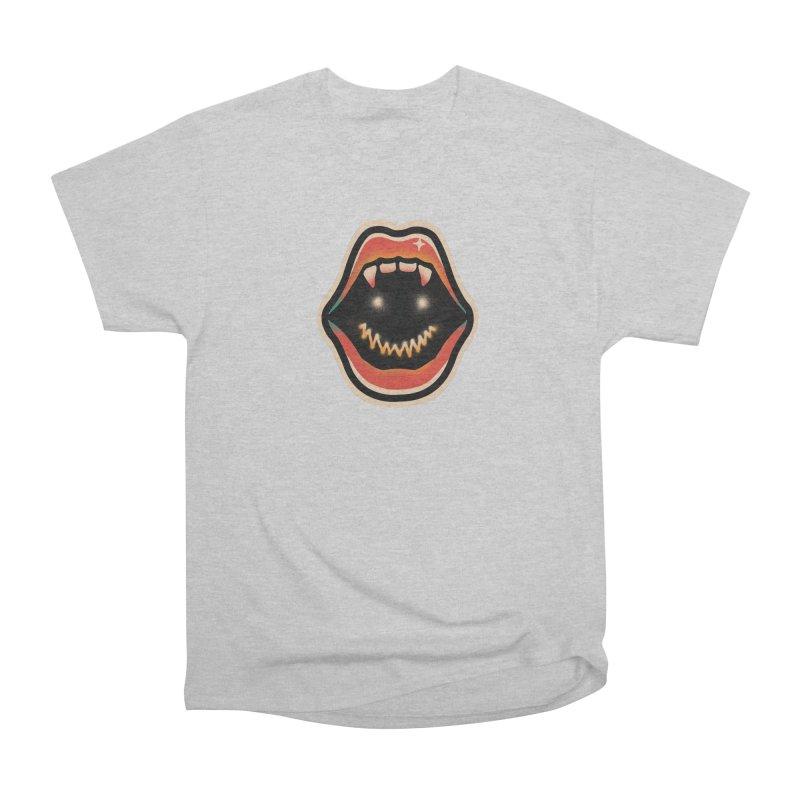 mouth mystery Women's Heavyweight Unisex T-Shirt by barmalisiRTB