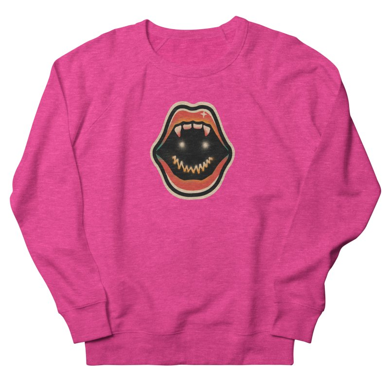 mouth mystery Women's French Terry Sweatshirt by barmalisiRTB