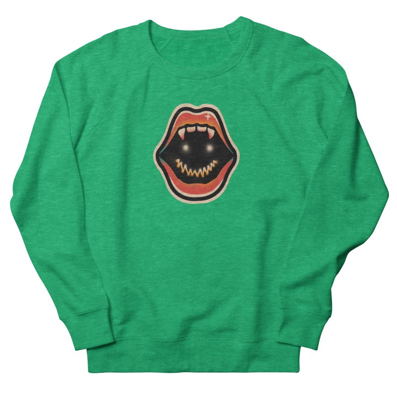 mouth mystery Men's French Terry Sweatshirt by barmalisiRTB