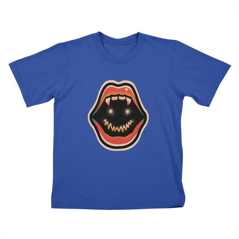 mouth mystery Kids T-Shirt by barmalisiRTB
