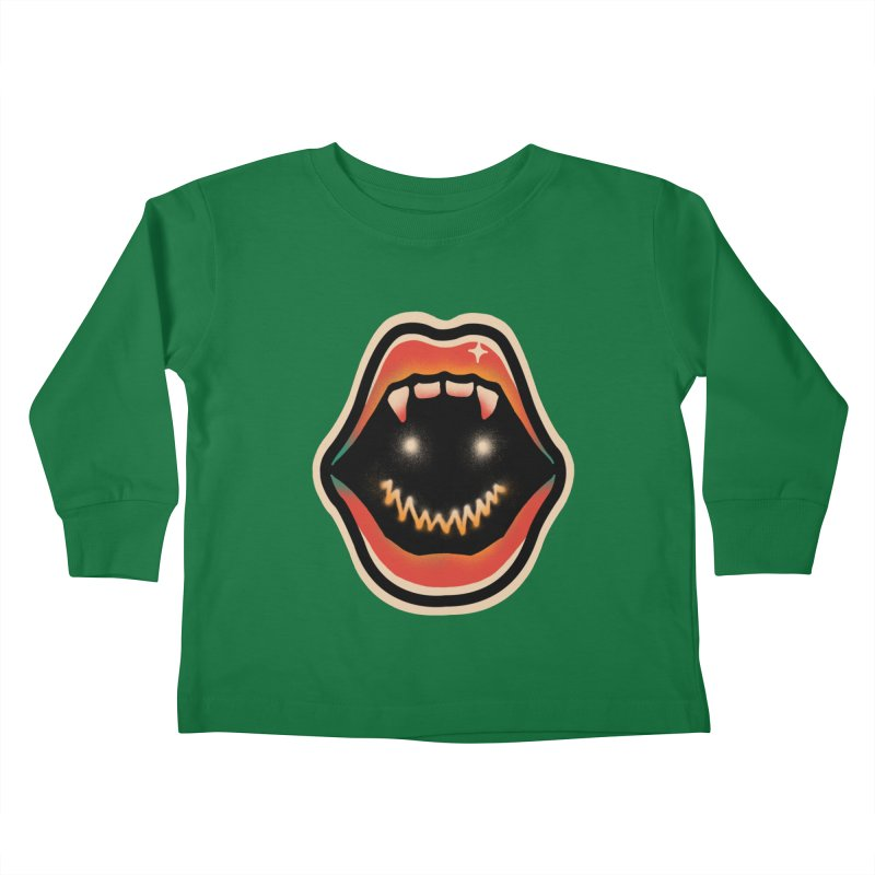 mouth mystery Kids Toddler Longsleeve T-Shirt by barmalisiRTB