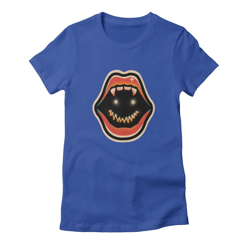 mouth mystery Women's Fitted T-Shirt by barmalisiRTB