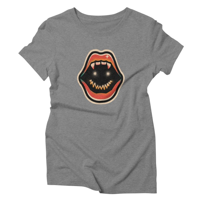 mouth mystery Women's Triblend T-Shirt by barmalisiRTB