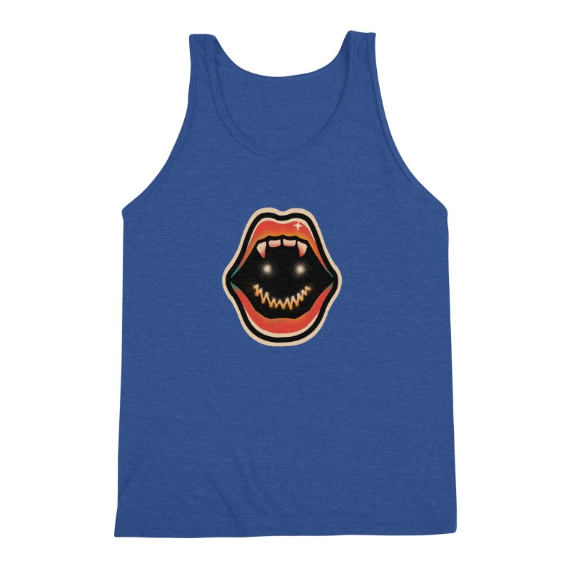 mouth mystery Men's Triblend Tank by barmalisiRTB