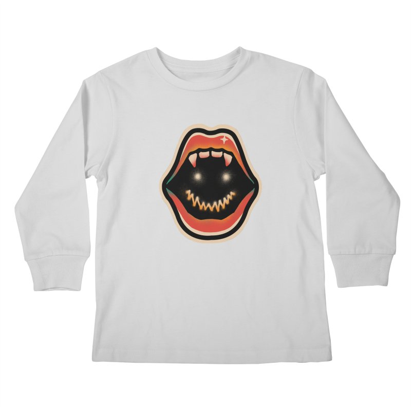 mouth mystery Kids Longsleeve T-Shirt by barmalisiRTB
