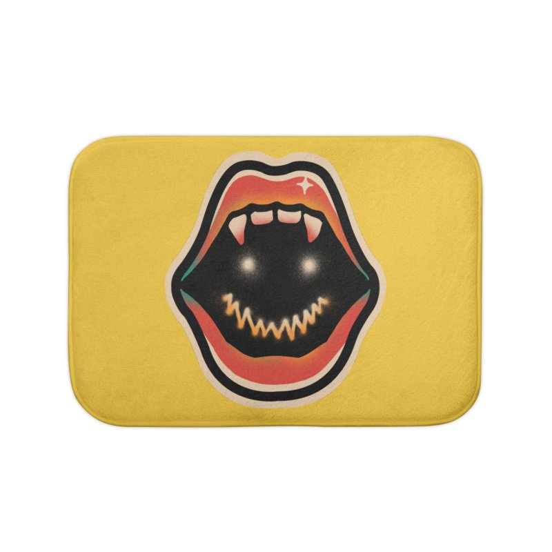 mouth mystery Home Bath Mat by barmalisiRTB
