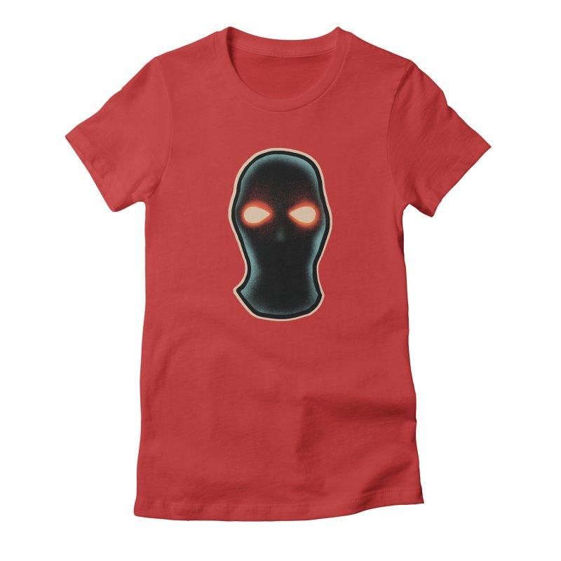 maschera malvagia Women's Fitted T-Shirt by barmalisiRTB