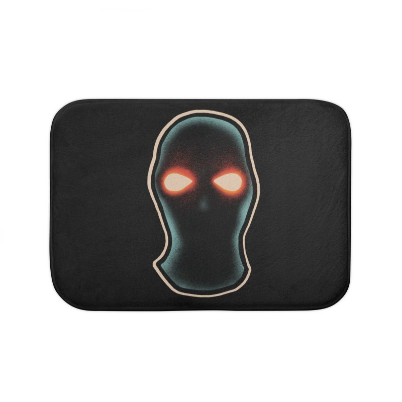 maschera malvagia Home Bath Mat by barmalisiRTB