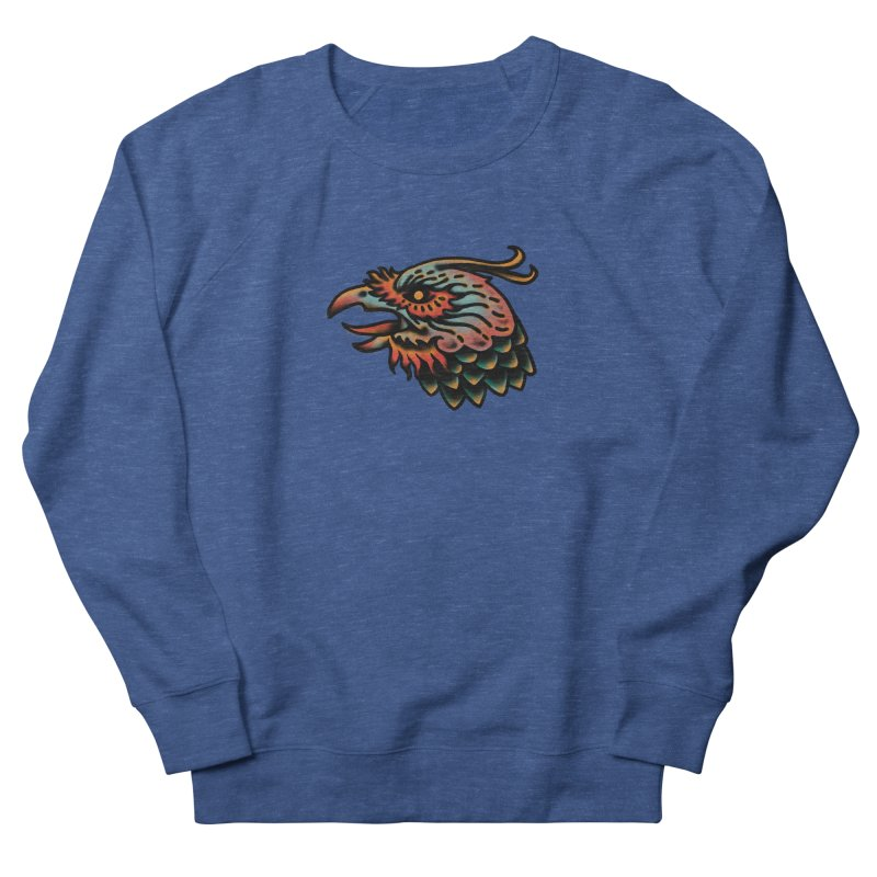 Crow spirit Men's French Terry Sweatshirt by barmalisiRTB