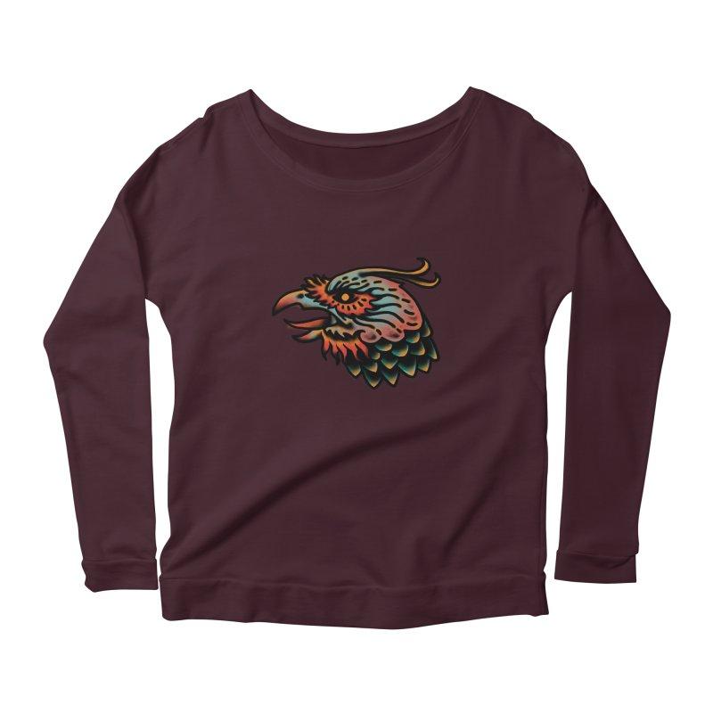 Crow spirit Women's Scoop Neck Longsleeve T-Shirt by barmalisiRTB
