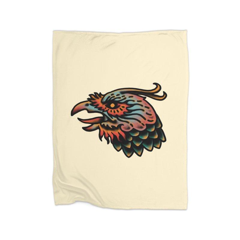 Crow spirit Home Fleece Blanket Blanket by barmalisiRTB