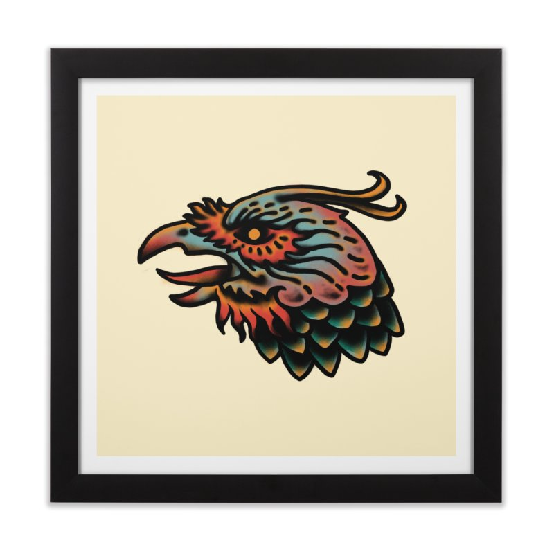 Crow spirit Home Framed Fine Art Print by barmalisiRTB