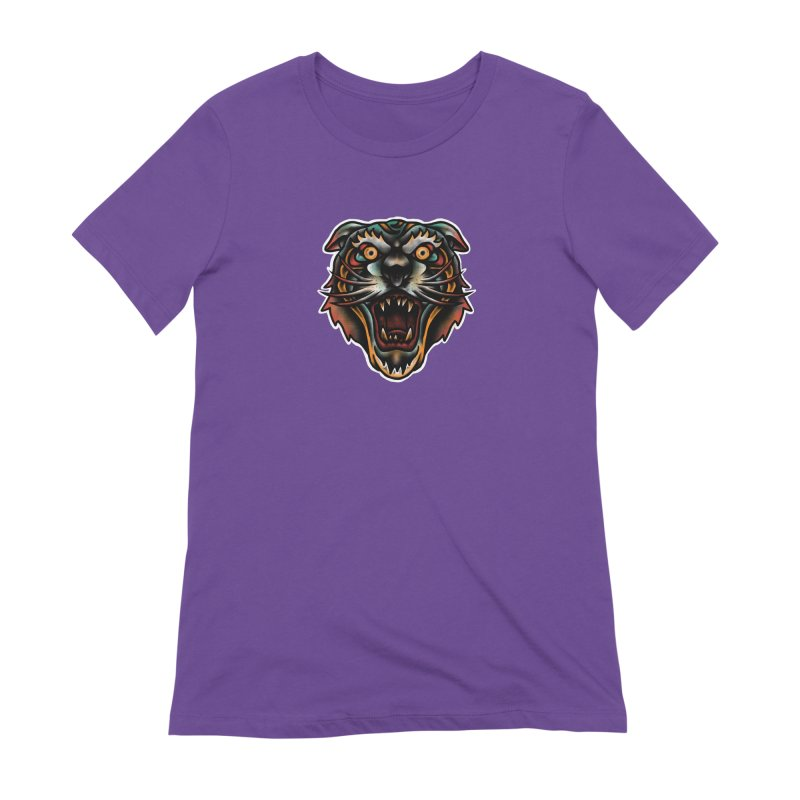 Tiger fighter Women's Extra Soft T-Shirt by barmalisiRTB
